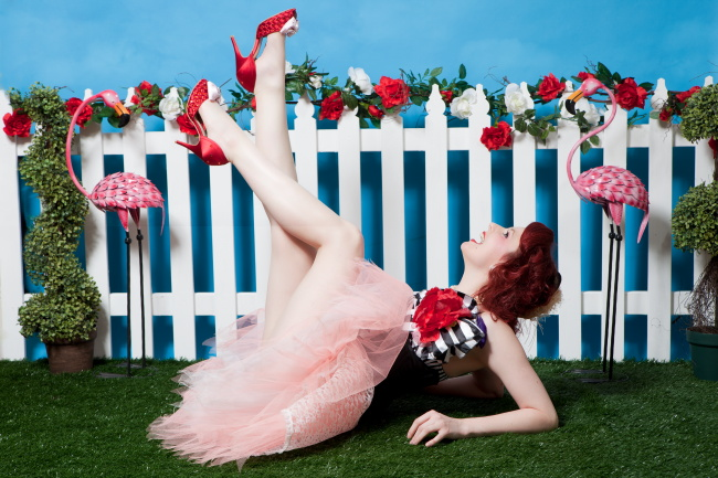 Ruby Slippers, David Woolley, Sugar Blue Burlesque, Alice In Wonderland, Vintage Glamour Photography