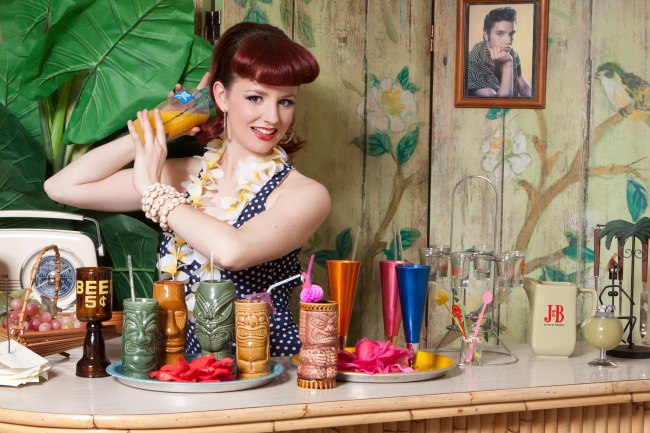 David Woolley; Vintage Glamour Photography; Sugar Blue Burlesque; Tiki; Ruby Slippers