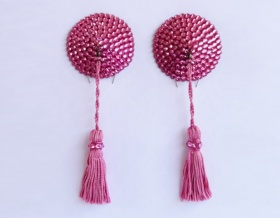 Swarovski Encrusted Pasties (Rose with Rose Tassels)