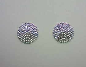 Swarovski Encrusted Pasties (Crystal AB)