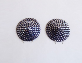 Swarovski Encrusted Pasties (Tanzanite)