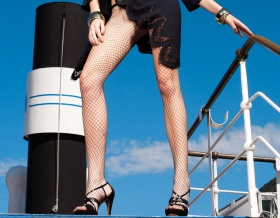 Trasparenze Rita Fishnet Tights (Black)
