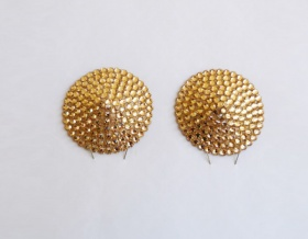 Swarovski Encrusted Pasties (Light Peach)