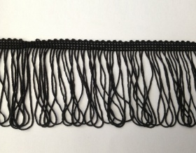 Fringe Loop 70mm Trim (Black)