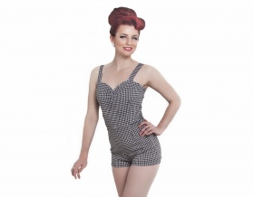 Hello Sweetheart Playsuit (Houndstooth)