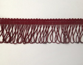 Fringe Loop 45mm Trim (Burgundy)