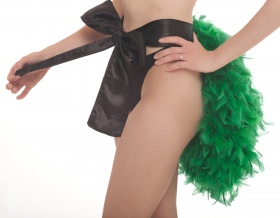 Lady Feather Bottom Bustle (Green)