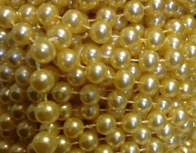 Pearl Bead String Trim 8mm (Lemon)