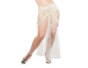 Tempest Modesty Panel Skirt (Beige)