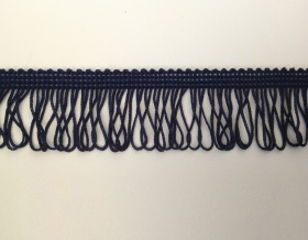 Fringe Loop 45mm Trim (Navy Blue)