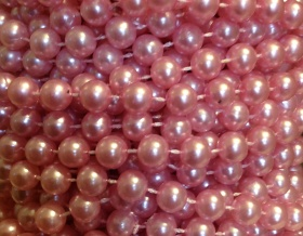 Pearl Bead String Trim 8mm (Pink)