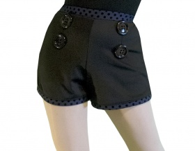 Polka Dot Pin Up Stretch Tap Shorts
