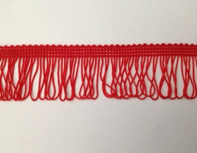 Fringe Loop 45mm Trim (Red)