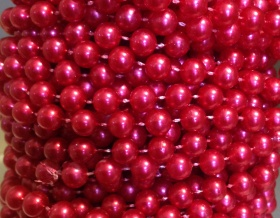 Pearl Bead String Trim 8mm (Red)