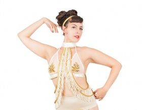 Vaudeville Tassel Collar (Cream)
