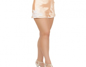 Broadway Baby Satin Tap Shorts (Peach)
