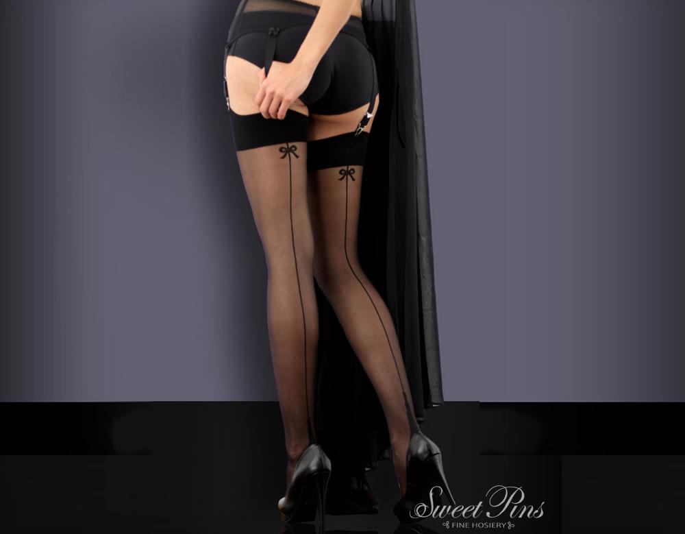 Black seamed stockings many thanks